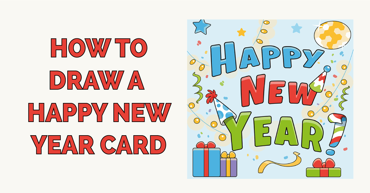 How to Draw a Happy New Year Card Featured Image