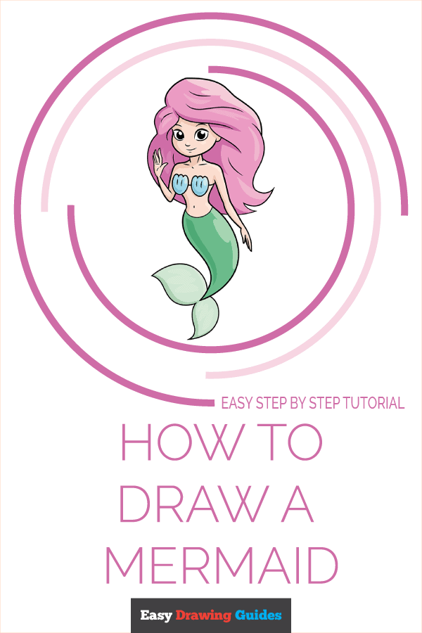 How to Draw a Mermaid Pinterest Image