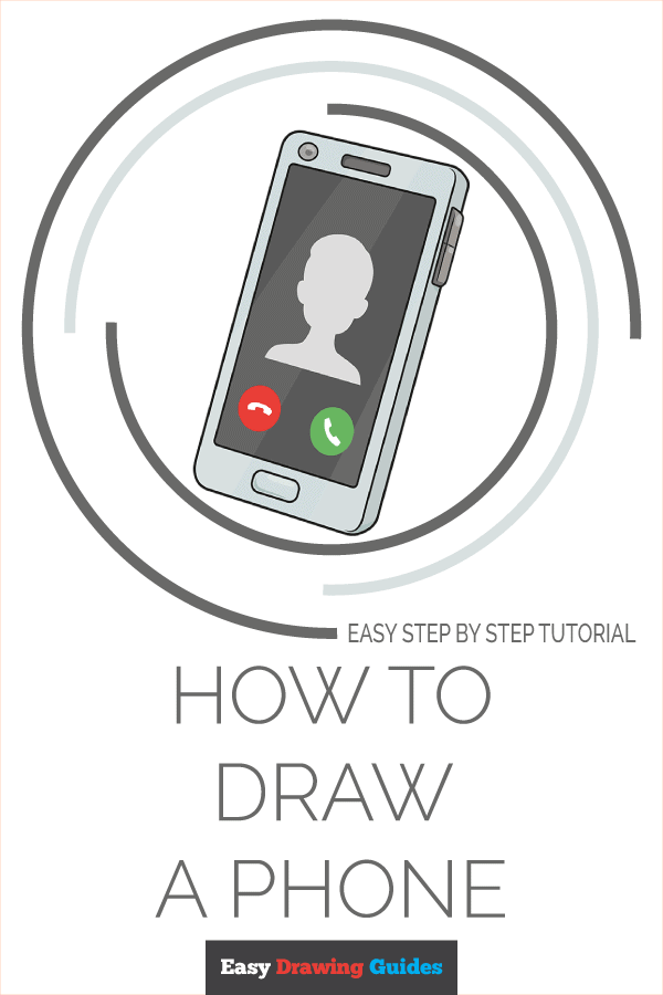 How to Draw Phone | Share to Pinterest