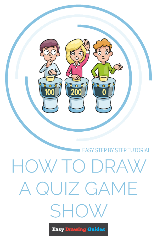How to Draw Quiz Game Show | Share to Pinterest