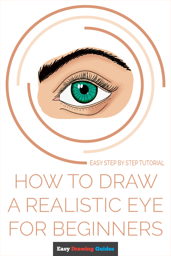 How to Draw a Realistic Eye for Beginners Pinterest Image
