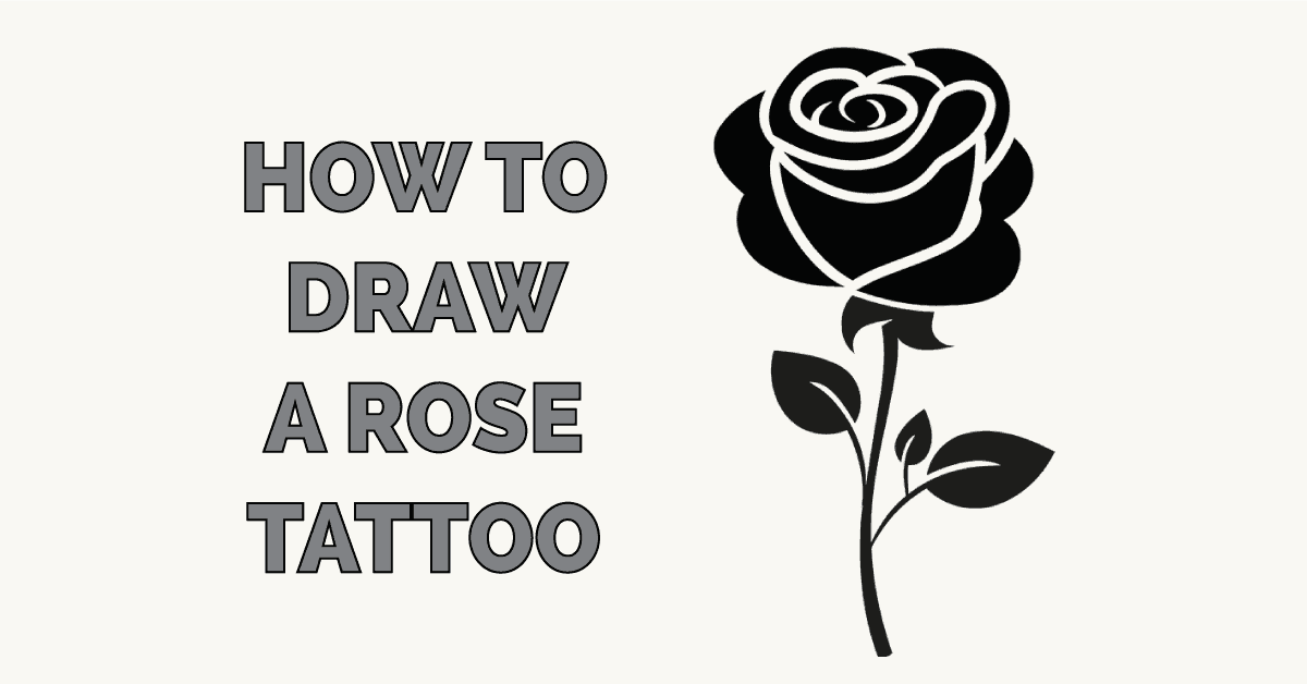 How to Draw a Rose Tattoo Featured Image