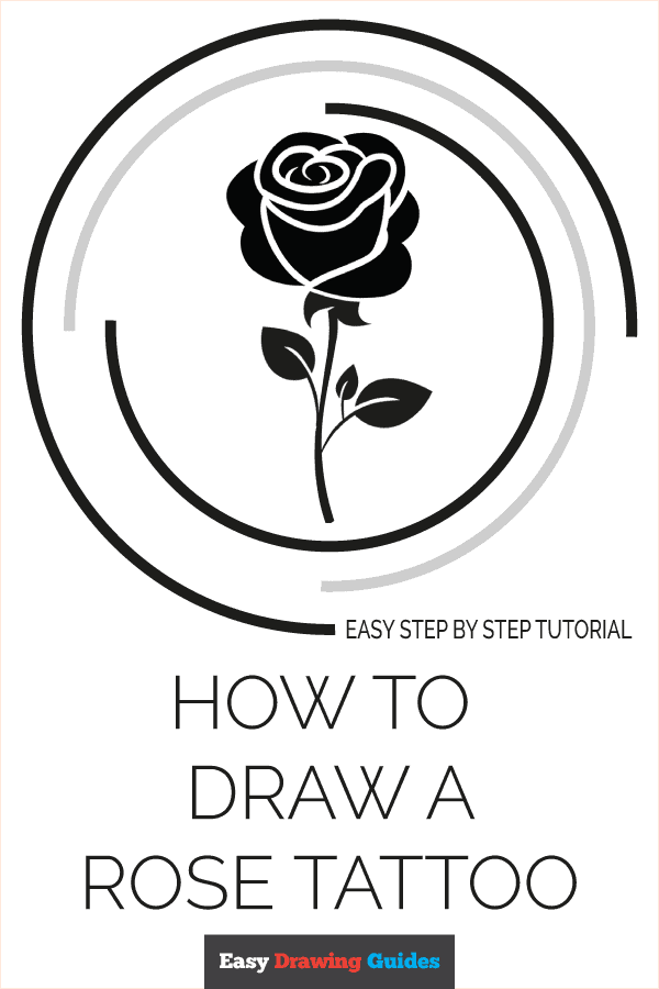 How to Draw Rose Tattoo | Share to Pinterest
