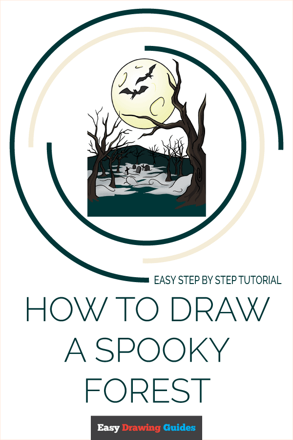 How to Draw a Spooky Forest Pinterest Image