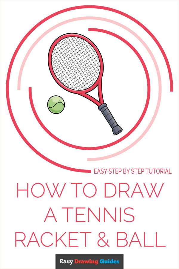 how to Draw a Tennis Racket and Ball Pinterest Image