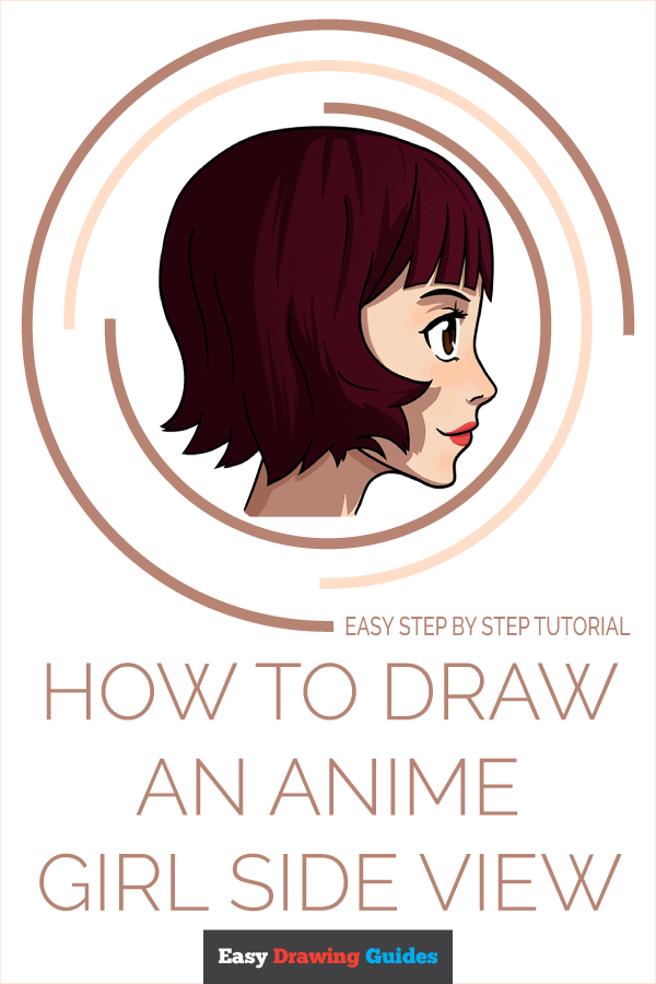How to Draw an Anime Girl Side View Pinterest Image