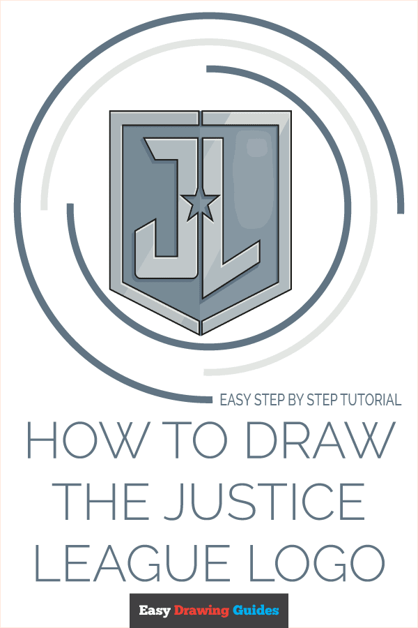 How to Draw the Justice League Logo Pinterest Image