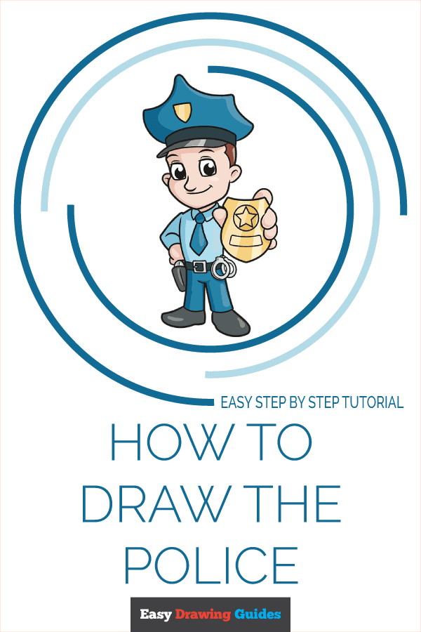 How to Draw Police | Share to Pinterest