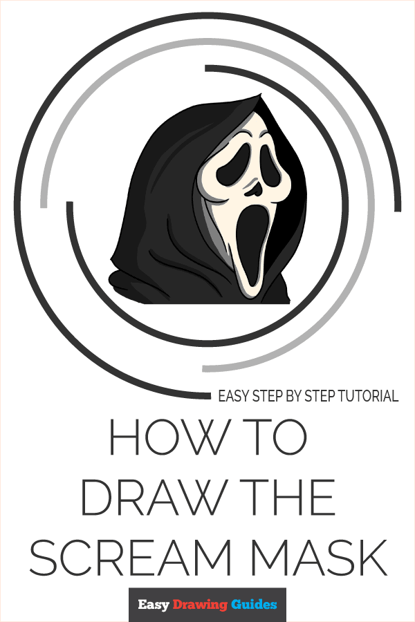 How to Draw the Scream Mask Pinterest Image