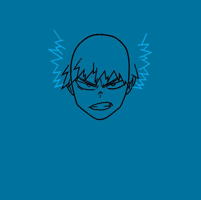 How to Draw Katsuki Bakugo: Step 4