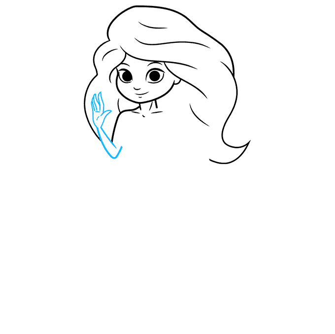 How to Draw a Mermaid Step 05