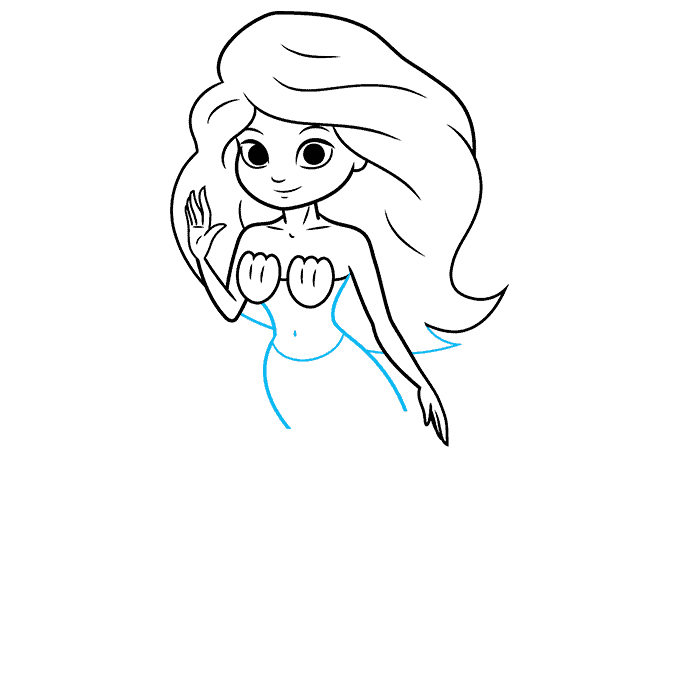 How to Draw a Mermaid Step 08
