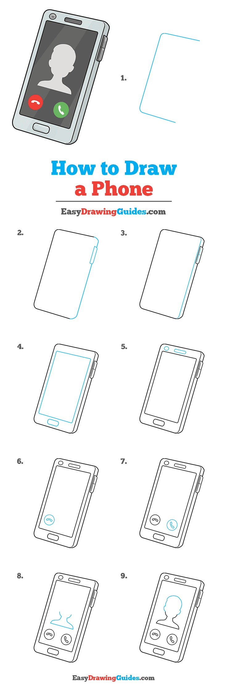 How to Draw Phone