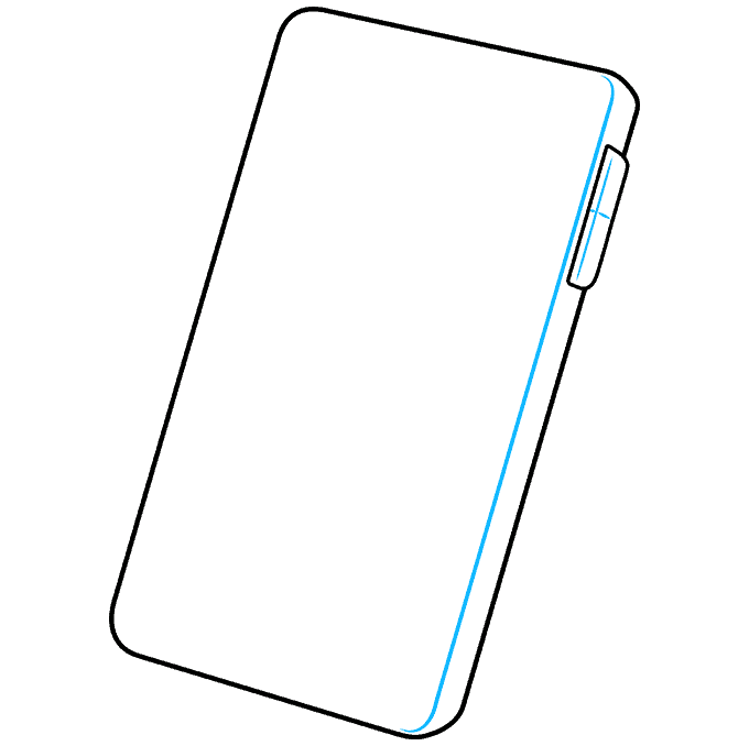How to Draw Phone: Step 3