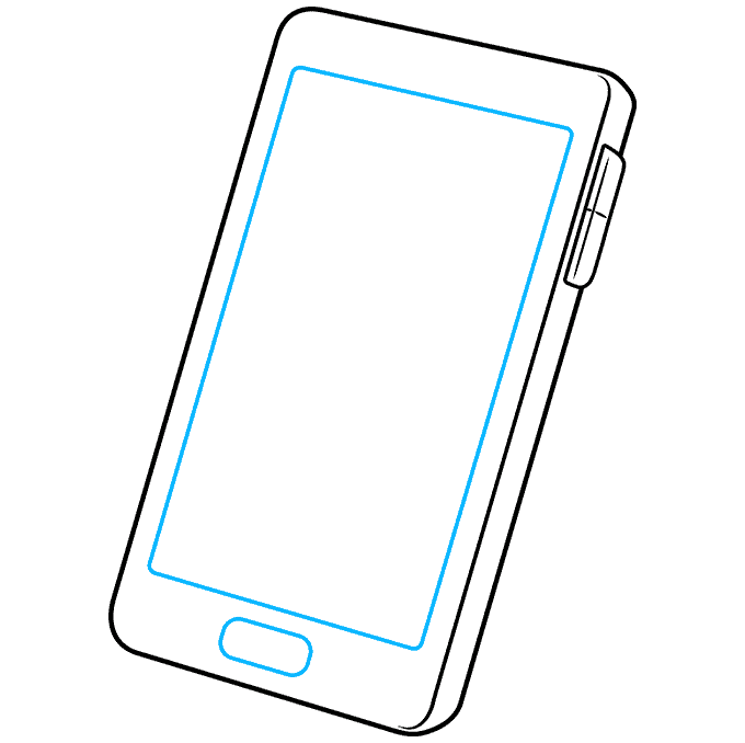 How to Draw Phone: Step 4