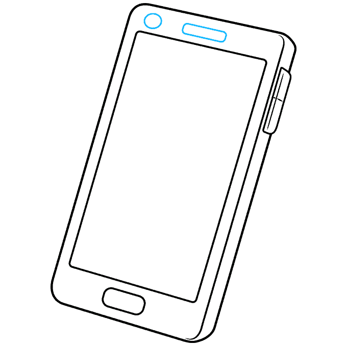How to Draw Phone: Step 5