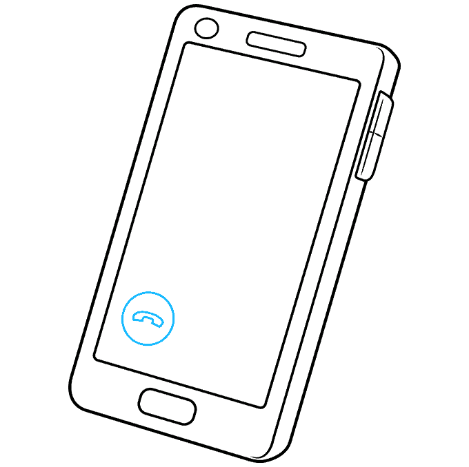 How to Draw Phone: Step 6