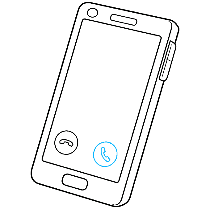 How to Draw Phone: Step 7