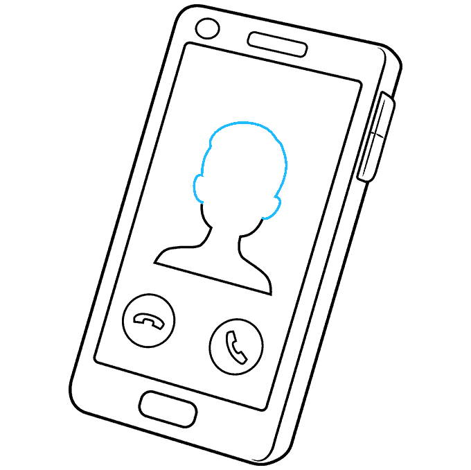 How to Draw Phone: Step 9