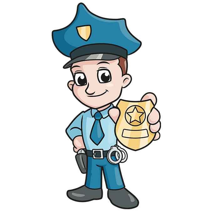 How to Draw Police: Step 10