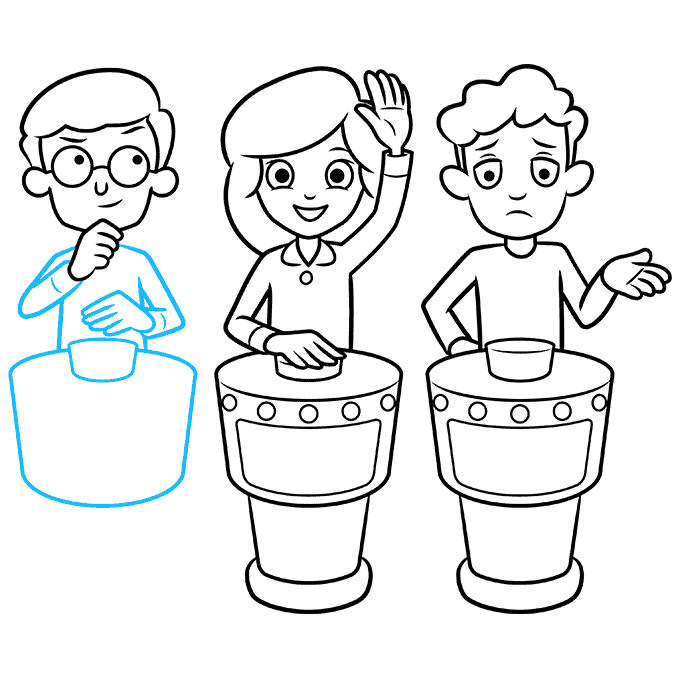 How to Draw a Quiz Game Show Step 08