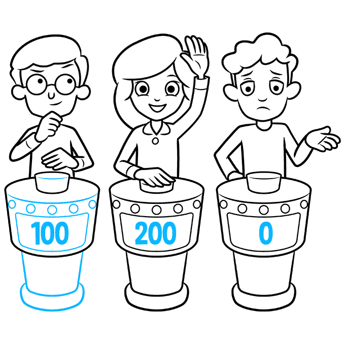 How to Draw a Quiz Game Show Step 09