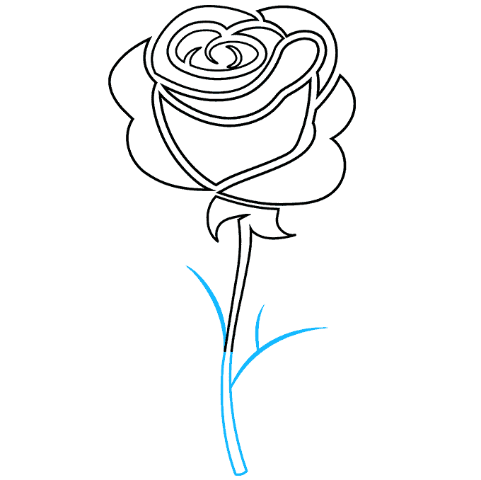 How to Draw Rose Tattoo: Step 8