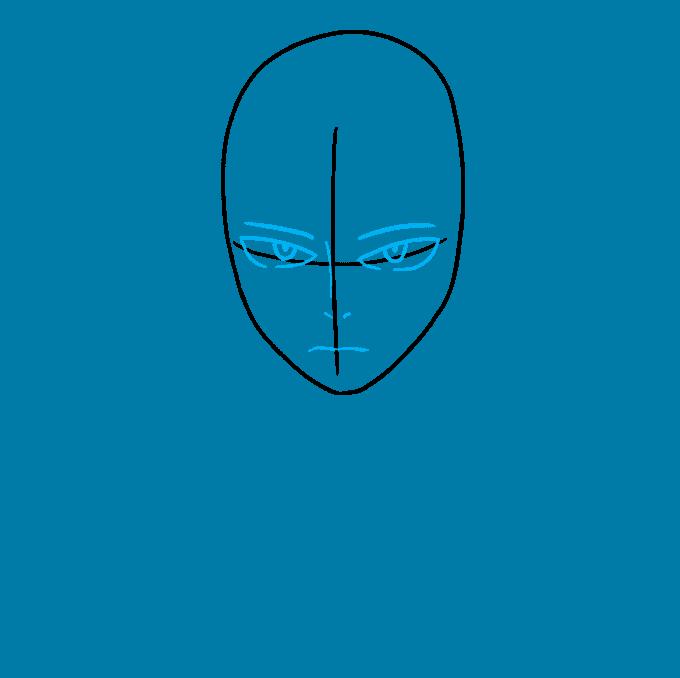How to Draw Shoto Todoroki from My Hero Academia Step 02