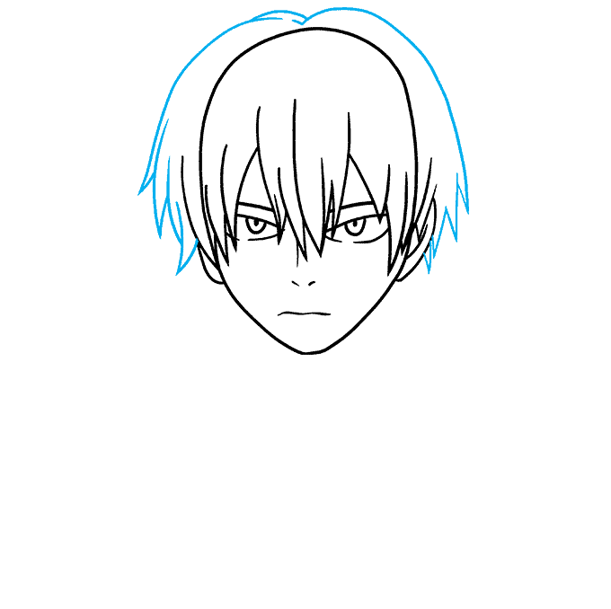 How to Draw Shoto Todoroki from My Hero Academia Step 05