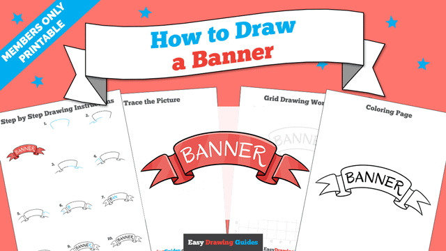download a printable PDF of Banner drawing tutorial
