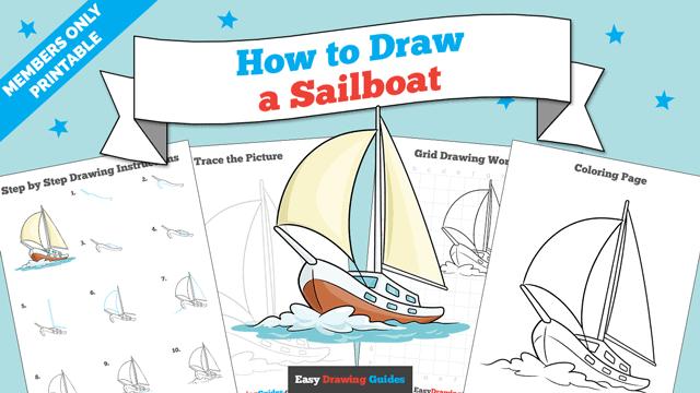 download a printable PDF of Sailboat drawing tutorial