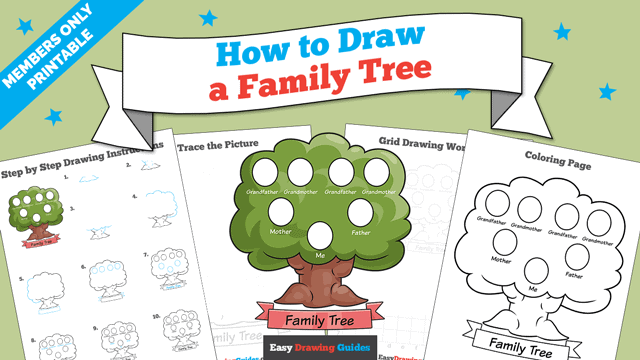 Printables thumbnail: How to Draw a Family Tree