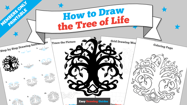 download a printable PDF of Tree of Life drawing tutorial