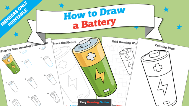 download a printable PDF of Battery drawing tutorial