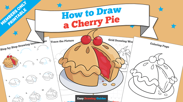 download a printable PDF of Cherry Pie drawing tutorial