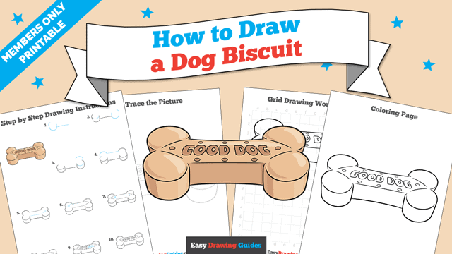 download a printable PDF of Dog Biscuit drawing tutorial