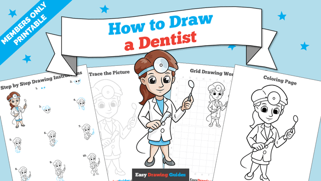 download a printable PDF of Dentist drawing tutorial