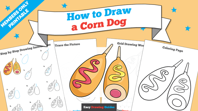 Printables thumbnail: How to Draw a Corn Dog