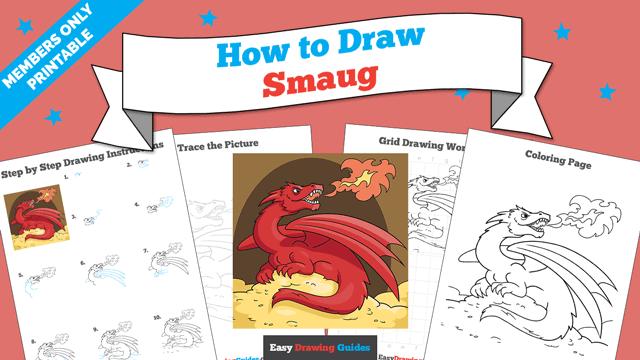 download a printable PDF of Smaug drawing tutorial