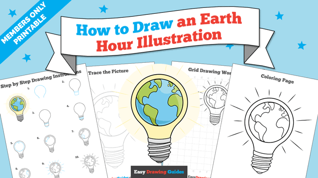 Printables thumbnail: How to Draw an Earth Hour Illustration