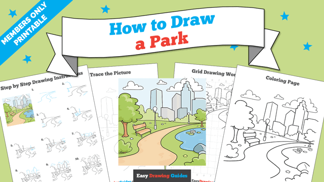 download a printable PDF of Park drawing tutorial