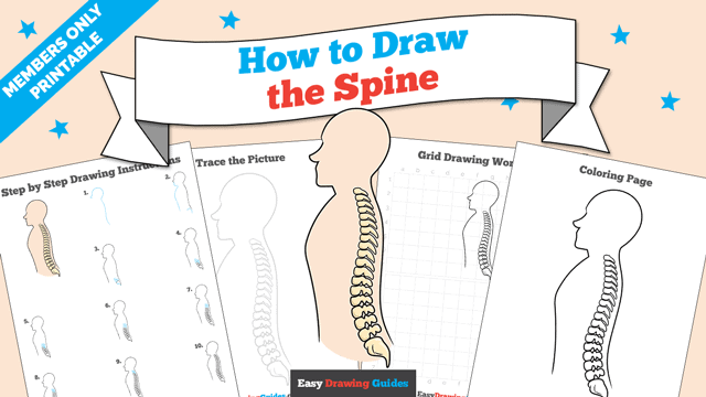 Printables thumbnail: How to Draw the Spine