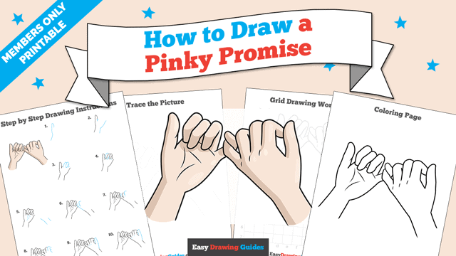 Printables thumbnail: How to Draw a Pinky Promise