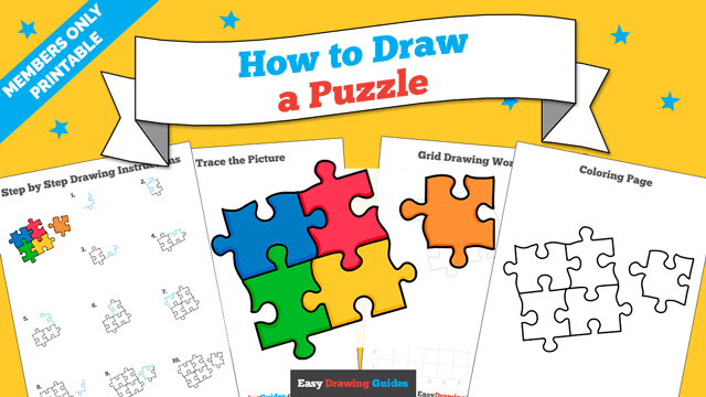 download a printable PDF of Puzzle drawing tutorial