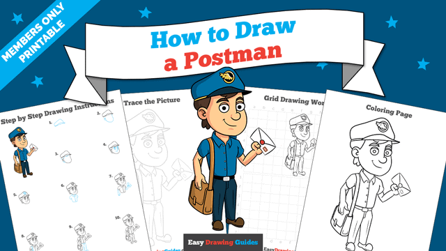 download a printable PDF of Postman drawing tutorial