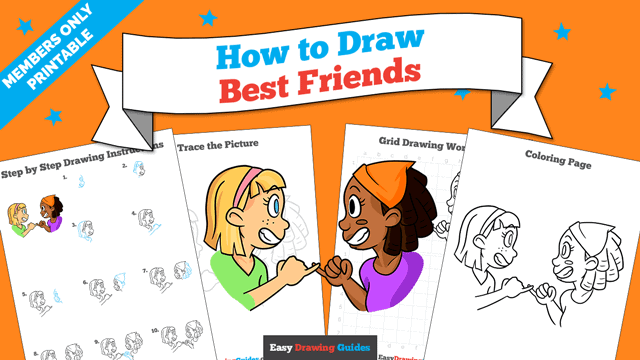 download a printable PDF of Best Friends drawing tutorial