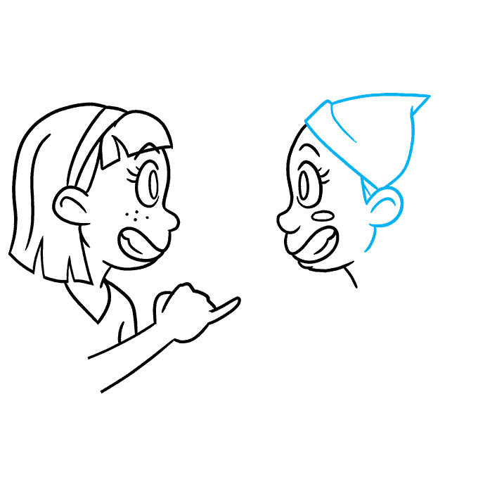 How to Draw Best Friends: Step 6