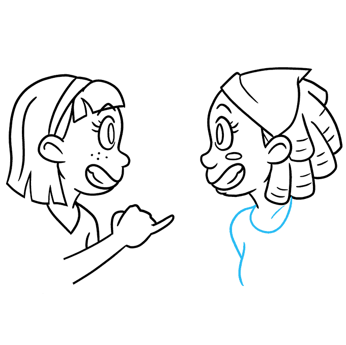How to Draw Best Friends: Step 8