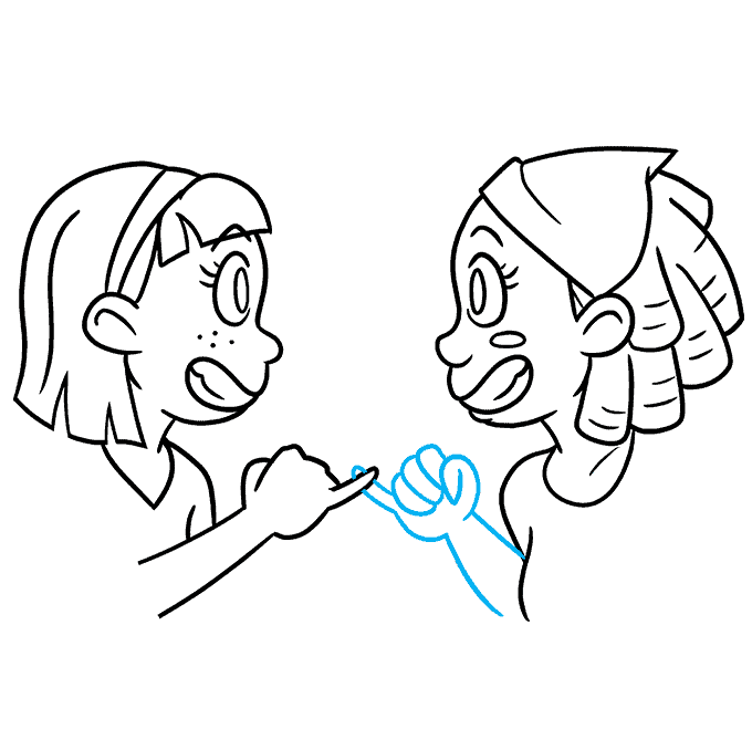 How to Draw Best Friends: Step 9