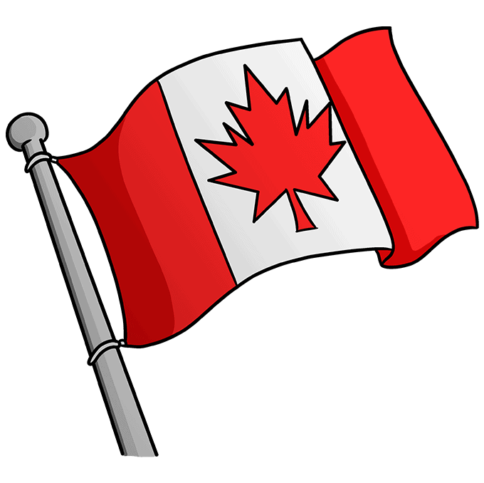 How to Draw the Canadian Flag Step 10